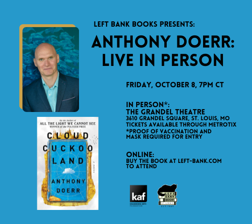 More Info for AN EVENING WITH ANTHONY DOERR