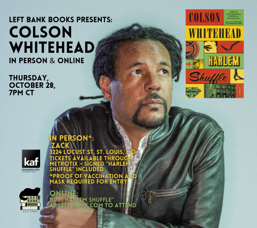 More Info for COLSON WHITEHEAD
